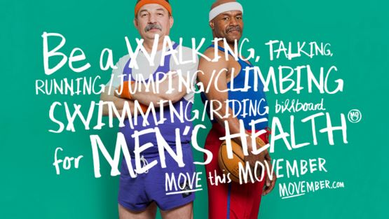 Movember, mens health, move, mo,
